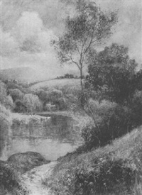 ludlow castle viewed from the river corve by wiggs kinnaird