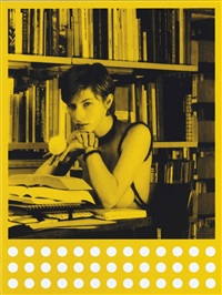 bibliothek babylon (yellow) by rosemarie trockel