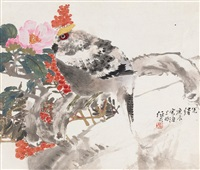 锦鸡 (rooster) by ren yi