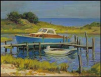 boats at dock by adam sherriff scott