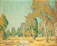landschaft mit birken by elisabeth luise andrae