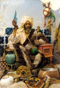 marchand oriental by charles bargue