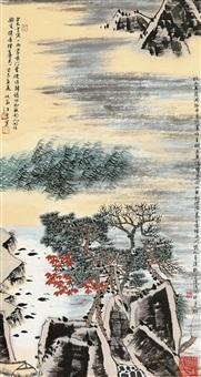 秋山蒹葭 (landscape) by jiang hong