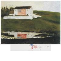 patriot's barn by jamie wyeth