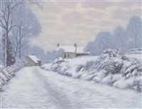 paysage enneigé by louis charlot