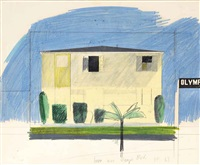 house, olympic boulevard by david hockney