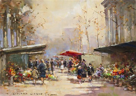 marche aux fleurs madeleine by edouard léon cortès