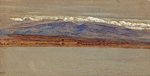 a view of the tarsus mountains from mersin turkey tarsus by william holman hunt