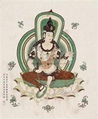 仿榆林石窟观音宝像 by jia ruifeng