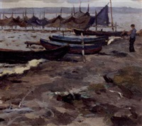 boats on the shore by yuri semenyuk the elder