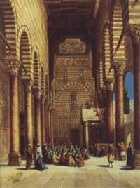 vue intérieure de la mosquée du sultan al ashraf qaytbay. le caire by torello ancillotti