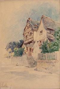 alte häuser in leutesdorf am rhein by nicolai von astudin