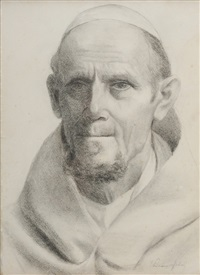 portrait of a monk by elliot daingerfield