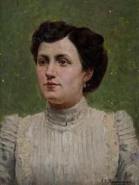 portrait of a woman by alexandre françois bonnardel