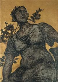 vrouw met lauwerkrans by xavier mellery