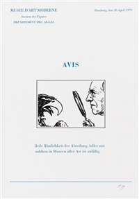 six letters ouvertes avis. (6) by marcel broodthaers