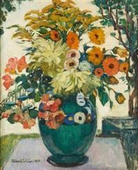 vase fleuri by fernand allard l'olivier