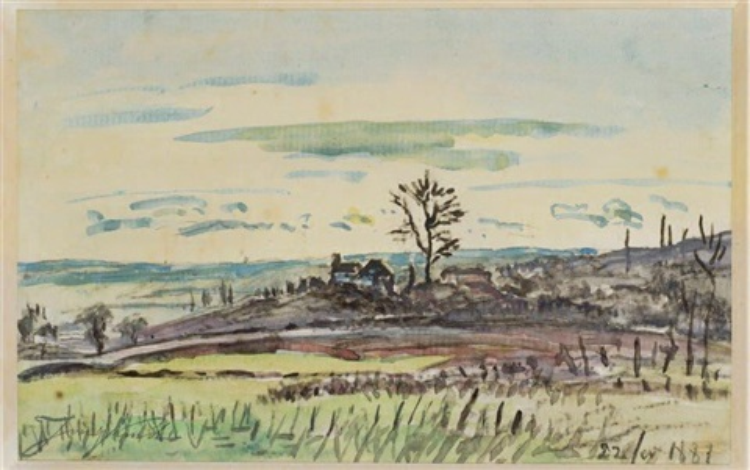 paysage by johan barthold jongkind