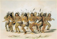 the bear dance, no.18 by george catlin