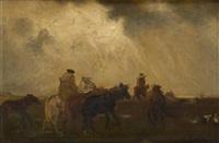 cavaliers avant la tempête by rudolf ribarz