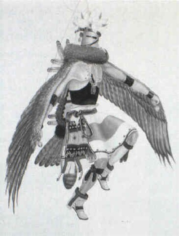 kwa eagle kachina by percy tsiste sandy