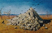 the apotheosis of war, after vasily vereshchagin (from pictures of pigment) by vik muniz