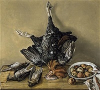 nature morte au dindon by joseph albert
