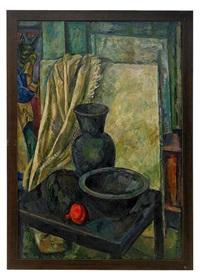 still life with black vase by iosif naumovich gurvich