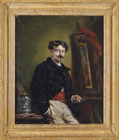 autoportrait dans latelier by alphonse marie de neuville