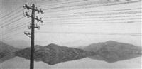 landschaft mit telegrafenmast by vaclav jiru