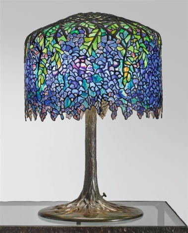 An important wisteria table lamp by tiffany studios on artnet an important wisteria table lamp by tiffany studios aloadofball Choice Image