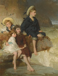 the children of sir h. hussey vivian by george elgar hicks