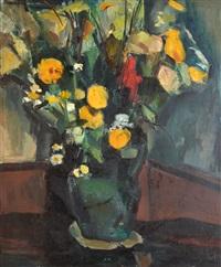 bouquet au pot vert by andré lemaitre