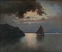 iltapurjehdus (sailing at dawn) by erik abrahamsson