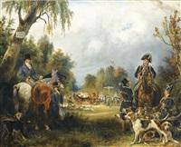 rendez-vous de chasse du prince de wagram by françois gabriel guillaume lépaulle