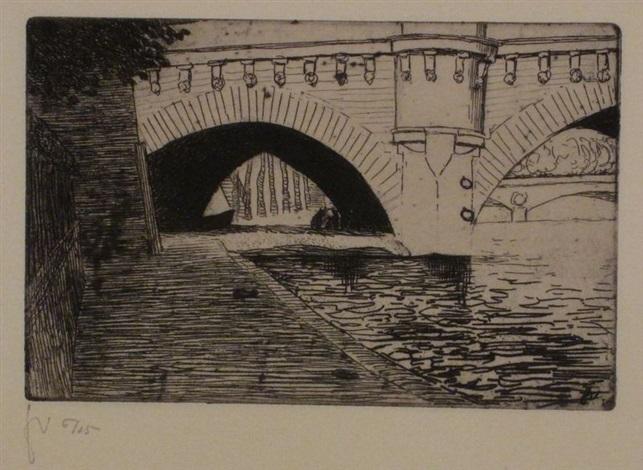 le pont neuf et le pont saint michel pl4 vues de paris by félix edouard vallotton