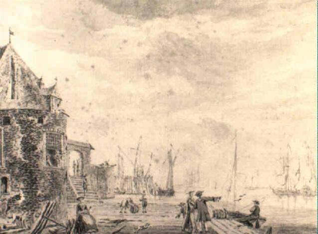 the campveersche toren at the harbour of veere on the oosterschelde by john greenwood
