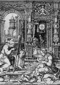 st. luke painting the virgin by dirk jacobsz vellert