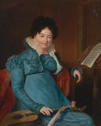 portrait of mrs. edward scheener by jacques-laurent agasse