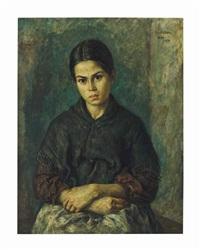 peasant girl of ibiza by martin baer