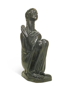 young girl in prayer by ivan mestrovic