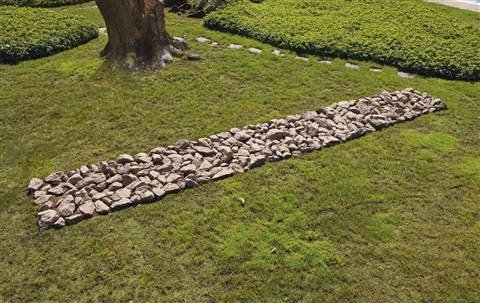 pink granite line by richard long