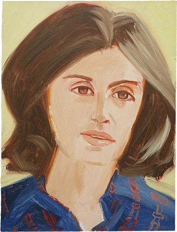 portrait of a woman by alex katz