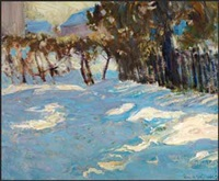 winter in thornhill village by james edward hervey macdonald