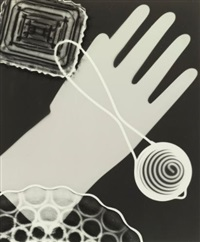 photogram with glove by edward w. quigley