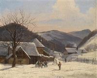 winterlandschaft by johann josef rauch