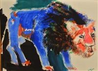 le lion by bernard lorjou