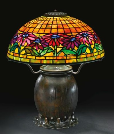 poinsettia table lamp by tiffany studios