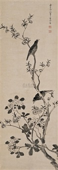 花枝栖禽 (flower and bird) by chen shuaizu