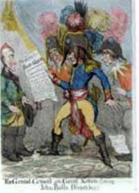 the grand consul of the great nation!!! perusing john bull's dispatches!!! by john cawse